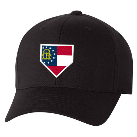 Image of Georgia Home Plate Black Hat