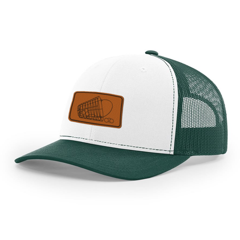 Practice Bucket Patch White & Green Hat