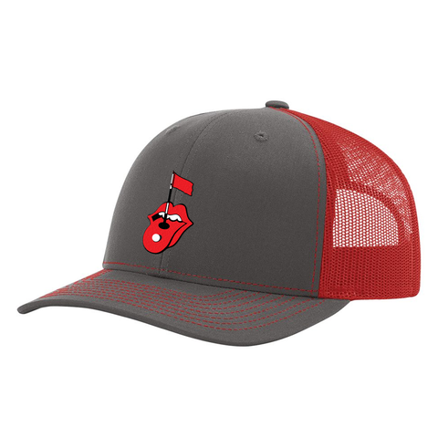 Rolling Golf Charcoal & Red Hat