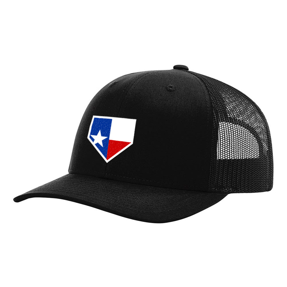 Texas Home Plate Black Hat