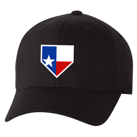 Image of Texas Home Plate Black Hat