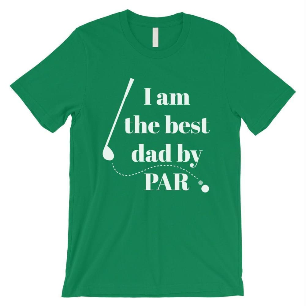 Best Dad By Par Golf Mens Shirt - Green / Small - Apparel & Accessories