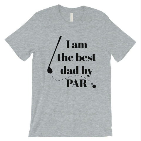 Image of Best Dad By Par Golf Mens Shirt - Heather Grey / Small - Apparel & Accessories