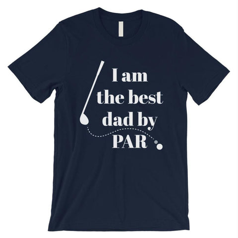 Image of Best Dad By Par Golf Mens Shirt - Navy / Small - Apparel & Accessories
