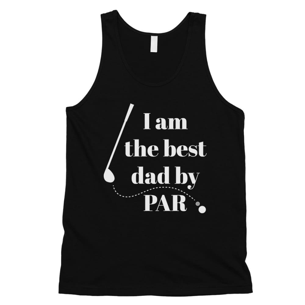 Best Dad By Par Golf Mens Sleeveless Top - Black / Small - Apparel & Accessories