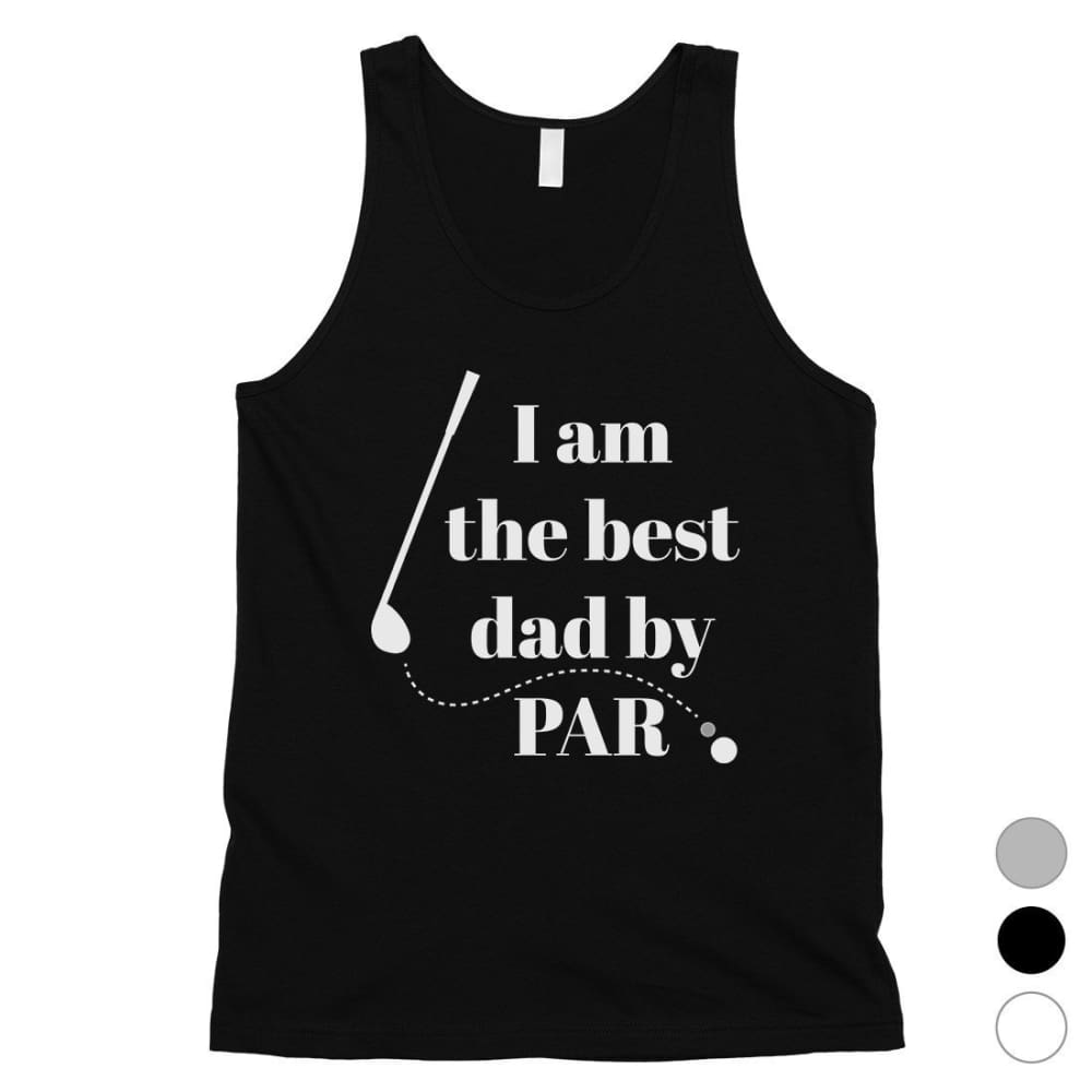 Best Dad By Par Golf Mens Sleeveless Top - Apparel & Accessories