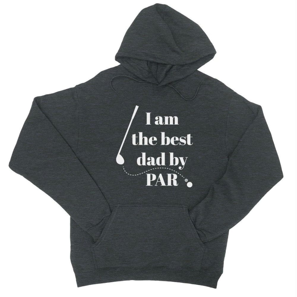 Best Dad By Par Golf Unisex Fleece Hoodie - Cool Grey / X-Small - Apparel & Accessories