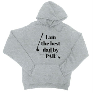 Best Dad By Par Golf Unisex Fleece Hoodie - Heather Grey / X-Small - Apparel & Accessories