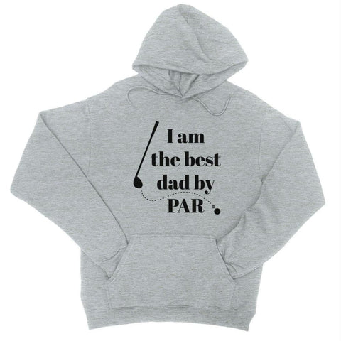 Image of Best Dad By Par Golf Unisex Fleece Hoodie - Heather Grey / X-Small - Apparel & Accessories