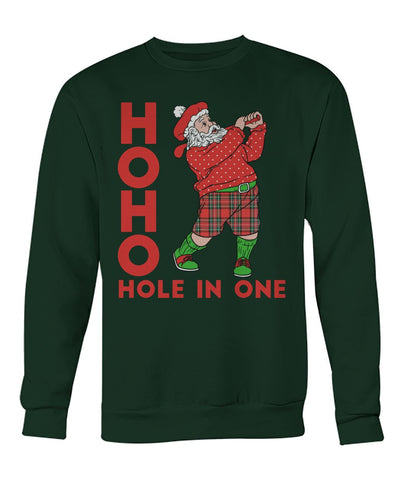 Santa Hole In One Crew Neck Sweatshirt