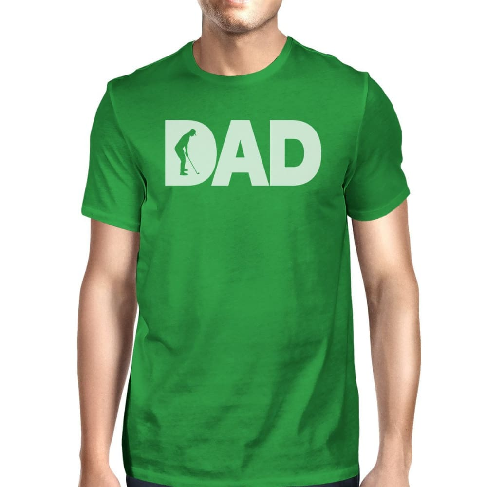 Dad Golf 1 Green Graphic T-shirt For Men Funny Golf Gifts For Dad - SMALL - Apparel & Accessories