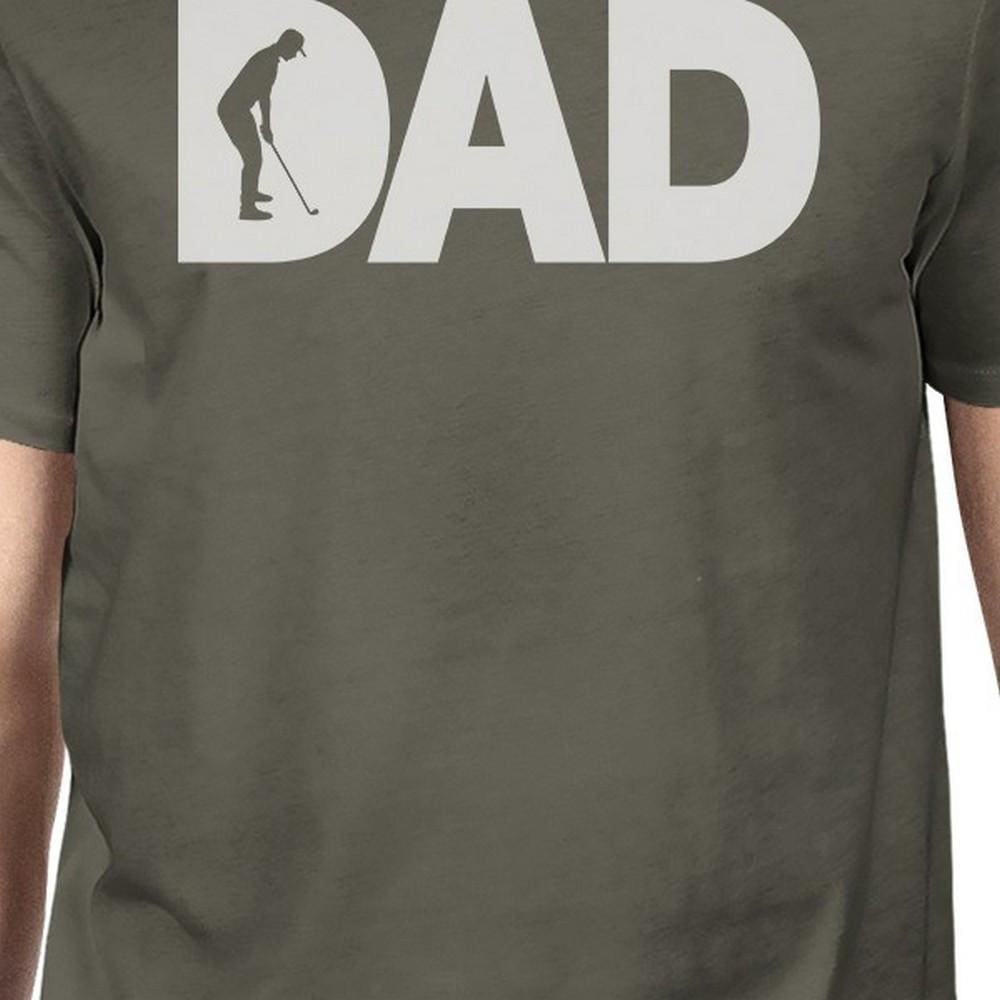 Dad Golf Mens Dark Grey Round Neck Tee Fathers Day Gifts For Dad - Apparel & Accessories