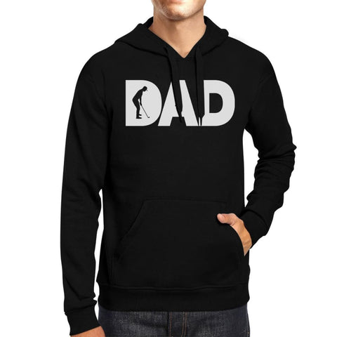Dad Golf Unisex Black Hoodie Funny Design Graphic Tee For Gold Dads - X-SMALL - Apparel & Accessories