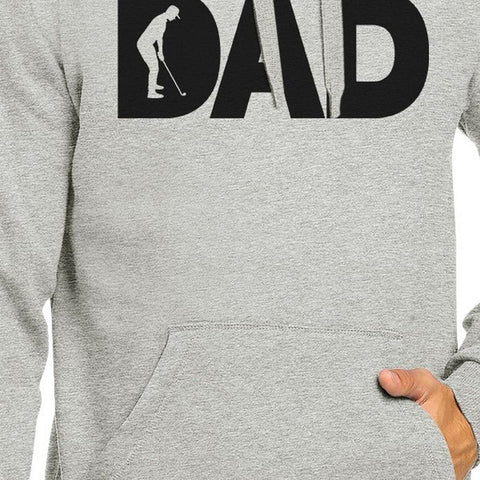 Image of Dad Golf Unisex Grey Hoodie Funny Design Hoodie For Golf Lovers - Apparel & Accessories