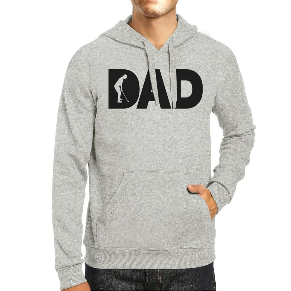 Dad Golf Unisex Grey Hoodie Funny Design Hoodie For Golf Lovers - X-SMALL - Apparel & Accessories