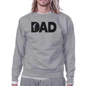 Dad Golf Unisex Grey Sweatshirt Funny Design Tank For Golf Lovers - X-SMALL - Apparel & Accessories