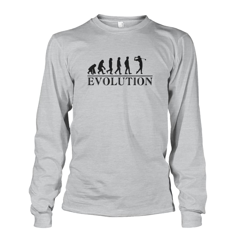 Evolution Long Sleeve - Ash Grey / S / Unisex Long Sleeve - Long Sleeves