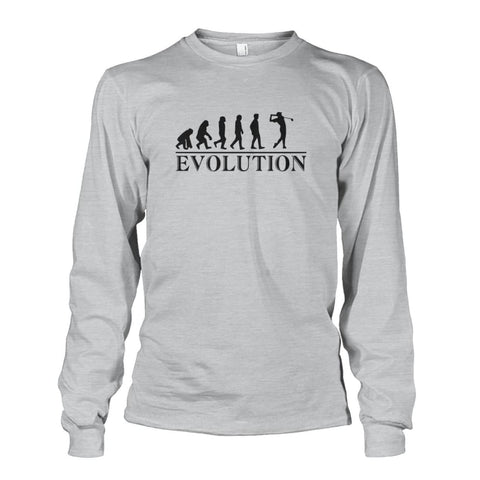 Image of Evolution Long Sleeve - Ash Grey / S / Unisex Long Sleeve - Long Sleeves