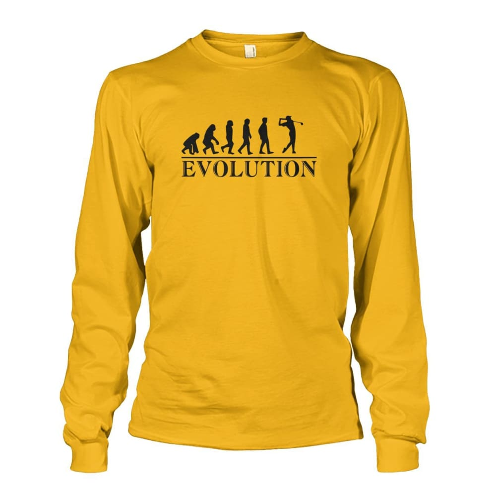 Evolution Long Sleeve - Gold / S / Unisex Long Sleeve - Long Sleeves