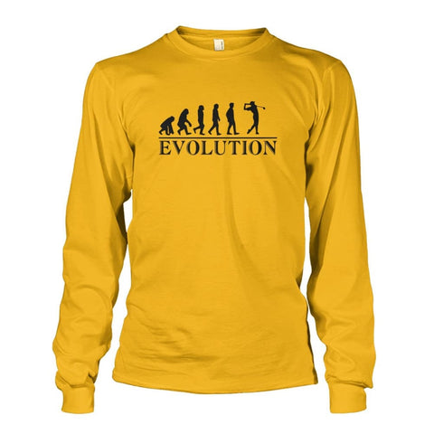 Image of Evolution Long Sleeve - Gold / S / Unisex Long Sleeve - Long Sleeves