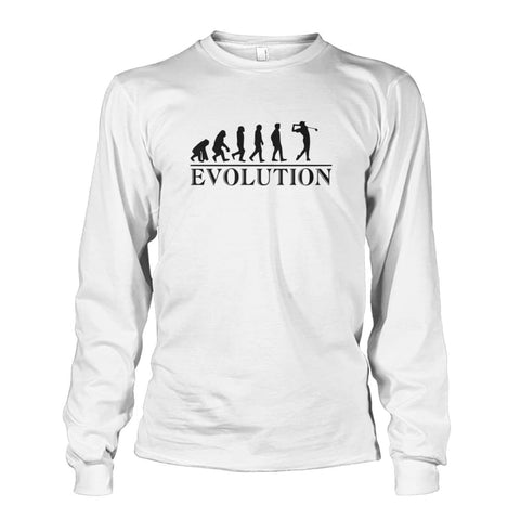 Image of Evolution Long Sleeve - White / S / Unisex Long Sleeve - Long Sleeves
