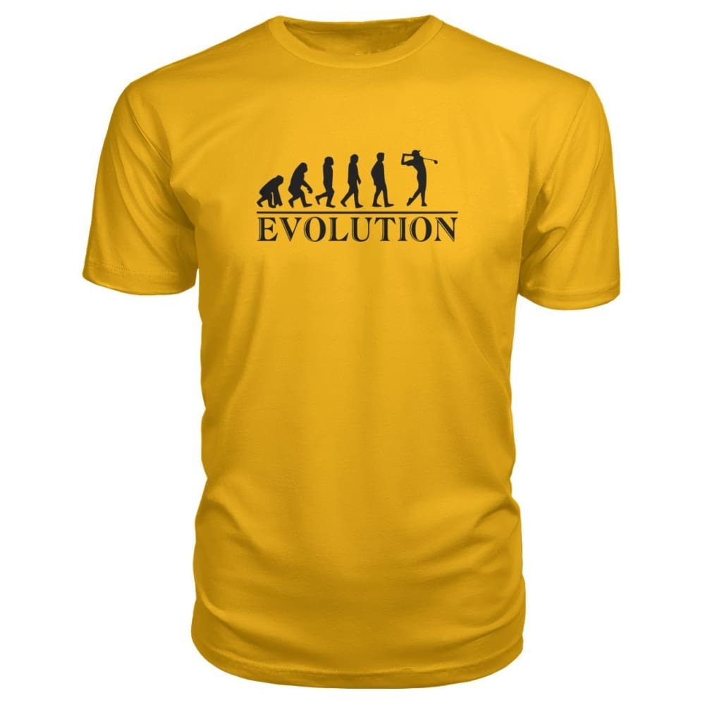 Evolution Premium Tee - Gold / S / Premium Unisex Tee - Short Sleeves