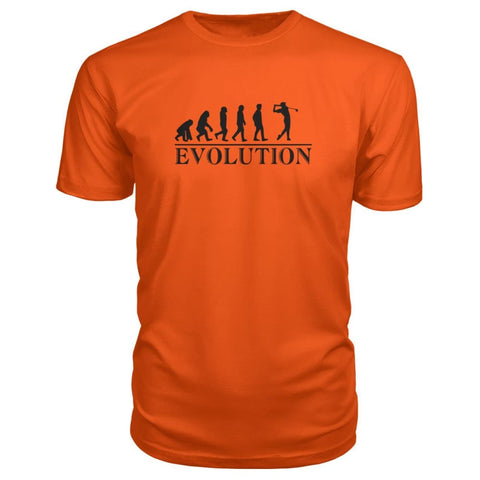 Evolution Premium Tee - Orange / S / Premium Unisex Tee - Short Sleeves