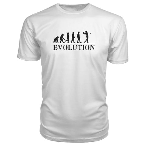Image of Evolution Premium Tee - White / S / Premium Unisex Tee - Short Sleeves