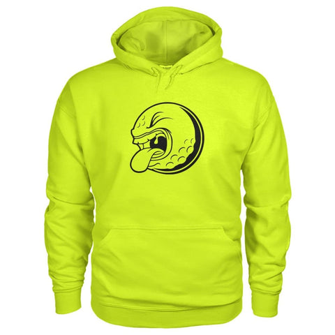Image of Golf ball Hoodie - Safety Green / S / Gildan Hoodie - Hoodies