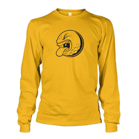 Image of Golf ball Long Sleeve - Gold / S / Unisex Long Sleeve - Long Sleeves