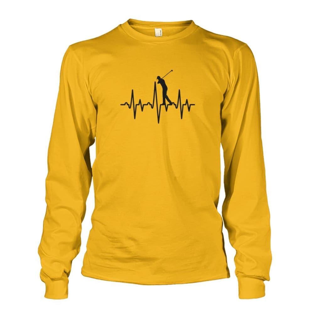 One With Golf Long Sleeve - Gold / S / Unisex Long Sleeve - Long Sleeves