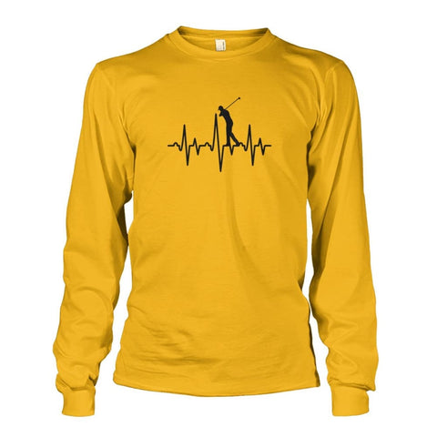 Image of One With Golf Long Sleeve - Gold / S / Unisex Long Sleeve - Long Sleeves