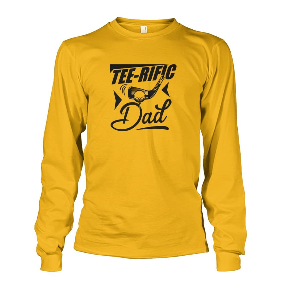 Tee-Rific Dad Long Sleeve - Gold / S / Unisex Long Sleeve - Long Sleeves