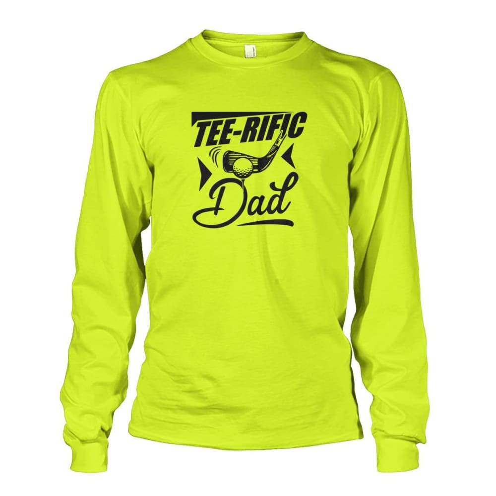 Tee-Rific Dad Long Sleeve - Safety Green / S / Unisex Long Sleeve - Long Sleeves