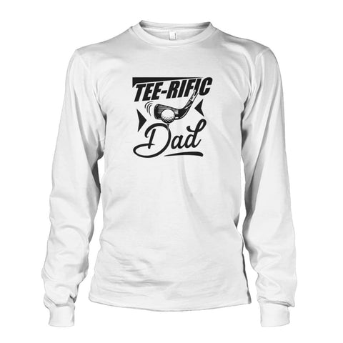 Tee-Rific Dad Long Sleeve - White / S / Unisex Long Sleeve - Long Sleeves