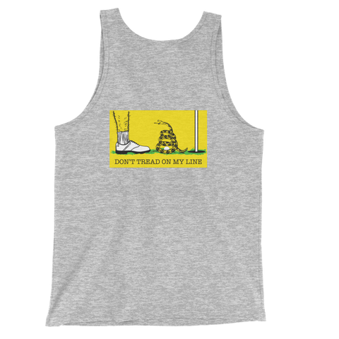 Don't Tread On My Line Back Design