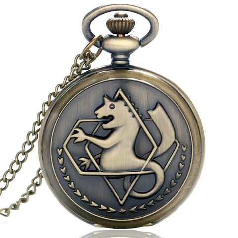 Classical Design Fullmetal Alchemist Big Pocket Watch Fashion Gift For Kids Boys And Girls P937