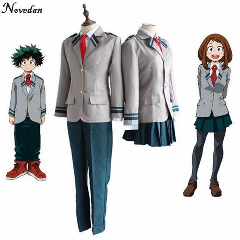 My Hero Academia Male/Female School Cosplay with wig