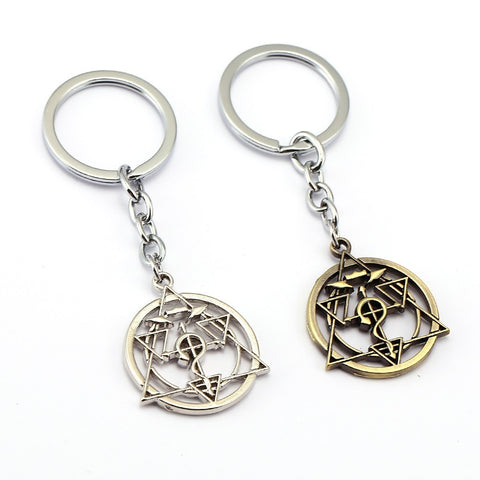 Fullmetal Alchemist Keychain Homunculus Circle Key Ring Holder Chaveiro Car Key Chain Pendant Anime Men Women Jewelry YS11896