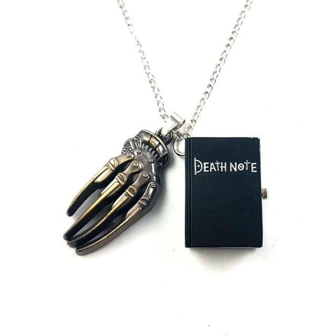 death note pocket watch quartz dead black bronze necklace chain claw pendant 1pcs/lot grim Reaper cosplay toy watches pendants