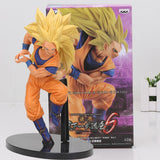 Dragon Ball Son Gokou Super Saiyan 3 Figure SCultures Big DXF Figure Dragon Ball Z PVC Action Figuras Model