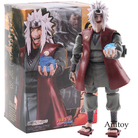 SHF S.H.Figuarts Naruto Shippuden Jiraiya Action Figure PVC Naruto Dolls Collectible Model Toy