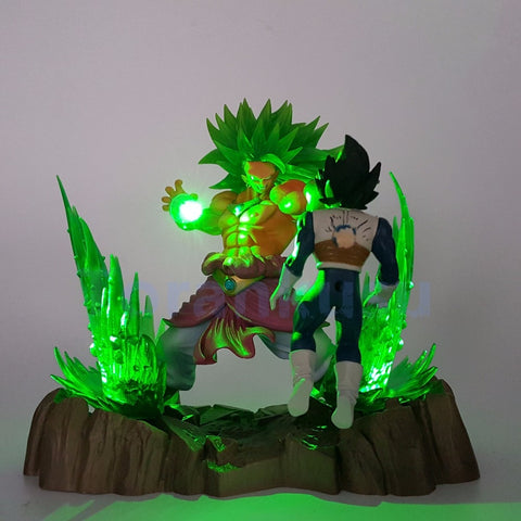Dragonball Z SSJ Broly vs Vegeta LED