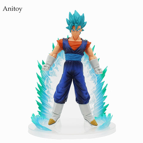 Dragon Ball Z Super Saiyan Cool Strong Vegetto Blue Hair Dragonball DBZ PVC Collectibles Action Figure Model Toys 22.5cm KT4200