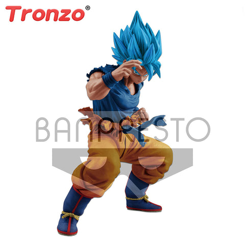 Tronzo Original Banpresto Figure Dragon Ball Super Goku Figure Action Models Dragon Ball 20th Anniversary Limited Figure Stock