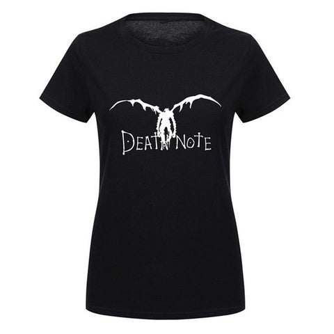 Women Death Note T Shirt Summer Japan Anime T-shirt Femme Fashion Lady Harajuku Tshirt Casual Cotton Short Sleeve Tops Tee Shirt