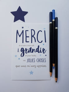 "Carte ""Merci..."""