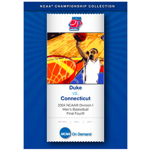 2004 NCAA® Division I UConn Huskies Men's Basketball Final Four® Duke vs. Connecticut DVD