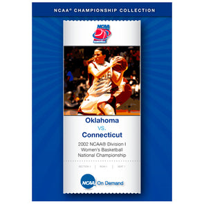 1999 NCAA® Division I UConn Huskies Men's Basketball National Championship Connecticut vs. Duke DVD