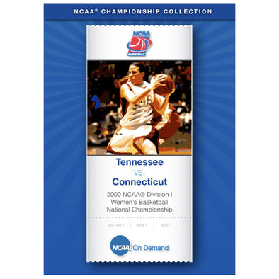 2000 NCAA® Division I UConn Huskies Women's Basketball National Championship Tennessee vs. Connecticut DVD